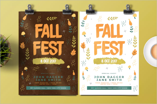 Printable Fall Flyer Template
