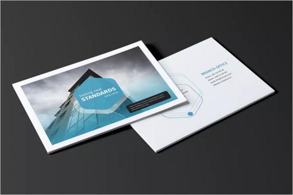 Printable Landscape Brochure Template