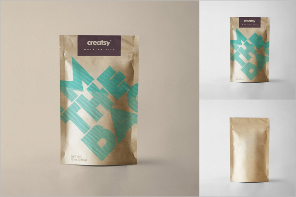 Printable Paper Bag Mockup Template