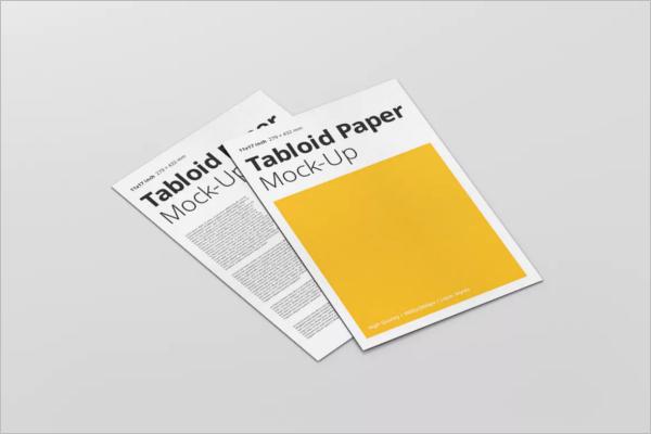Printable Paper Mockup Template