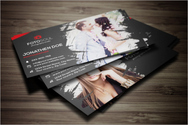 Printable Photography Business Card Design