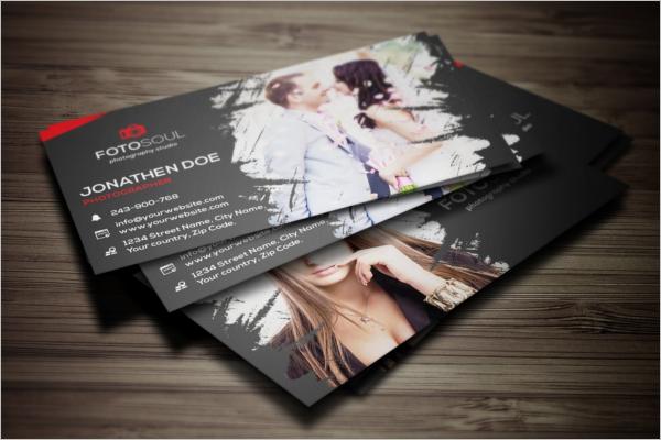 Printable Photography Business Card Design