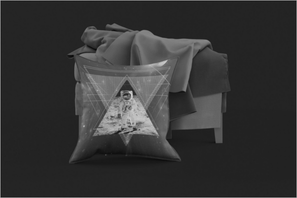 Printable Pillow Mockup Design