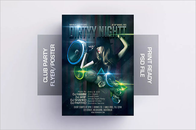 Printable Psd Flyer Template