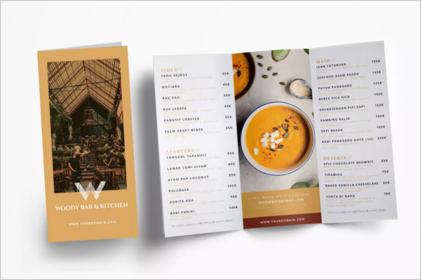 PrintableRestaurant Menu Design