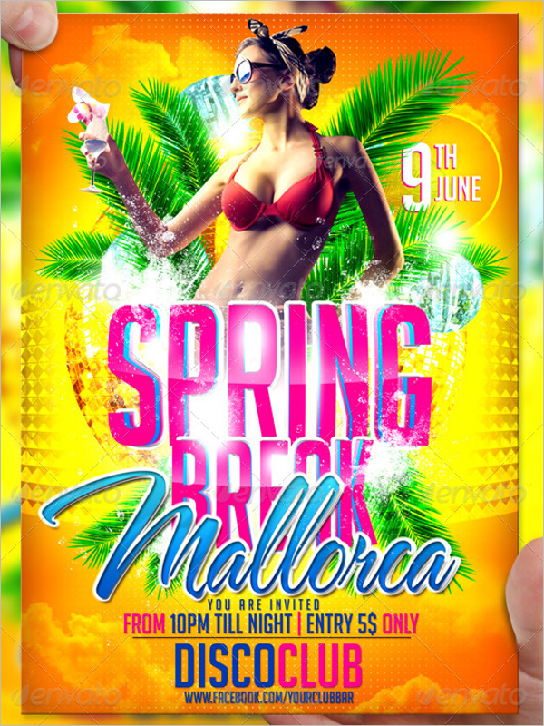 Printable Spring Flyer Template