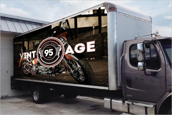 Printable Truck Mockup Template