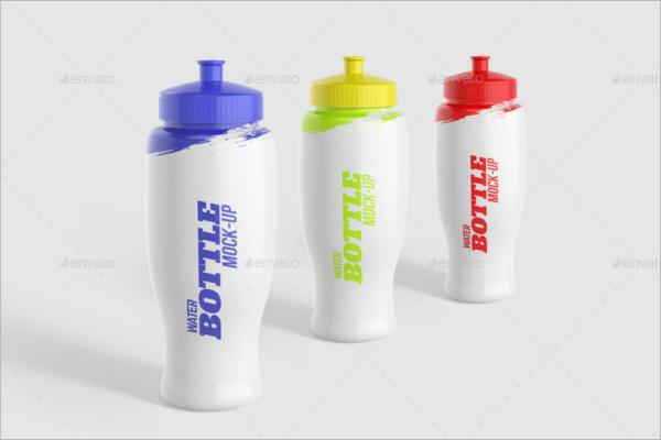 Printable Water Bottle Mockup