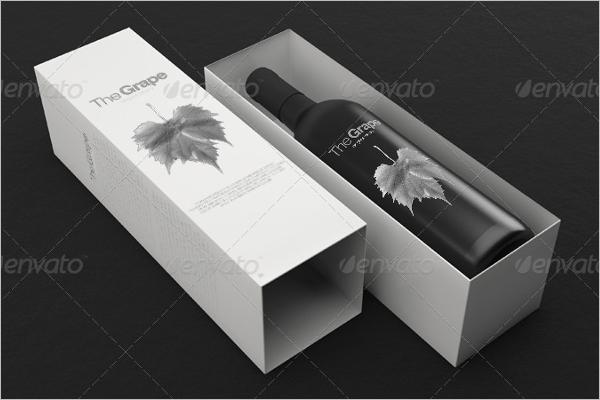 Printable Wine Bottle Mockup