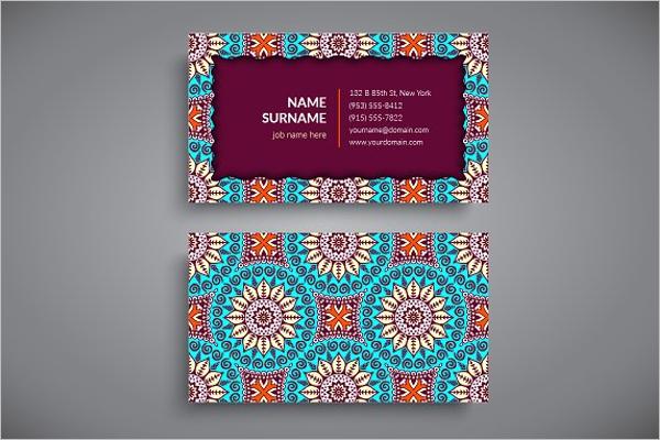 Printable Yoga Business Card Template