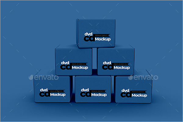 Product Box Mockup Kit Template