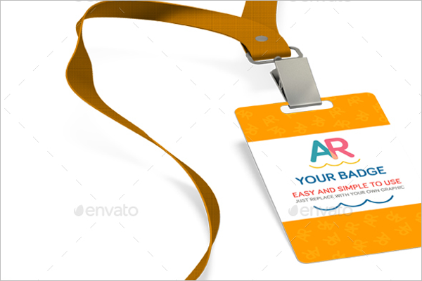 Professional Badge Mockup Design
