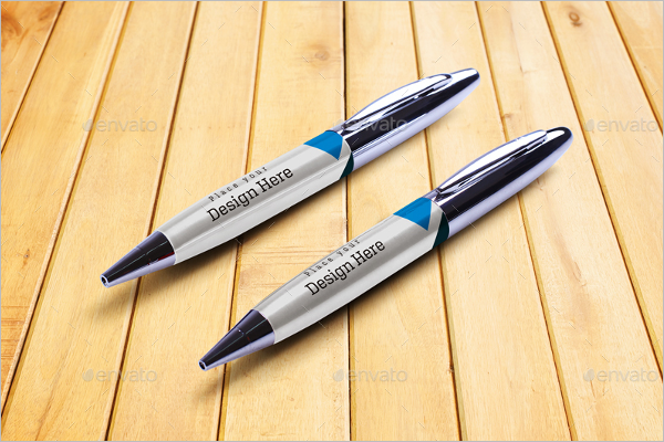 Promotional Pen Mockup Design