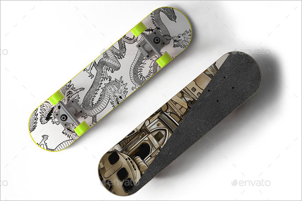 Ptintiable Skateboard Mockup Design