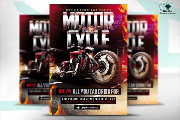 Racing Event Flyer Template