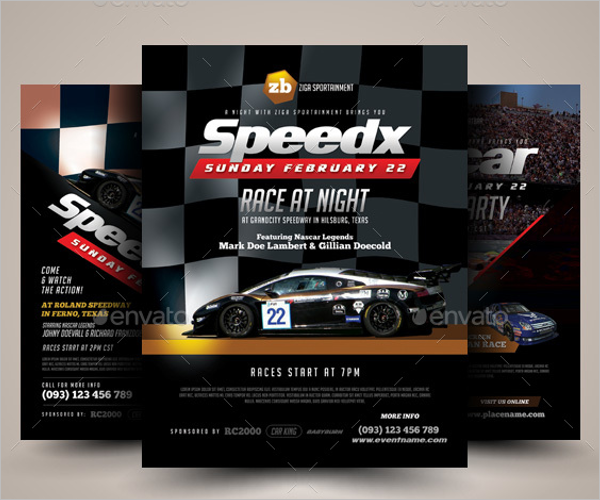 Racing Flyer Design Template