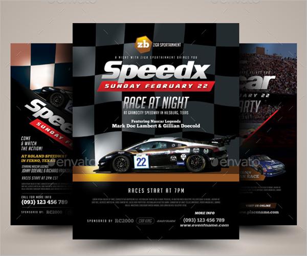 Racing Flyer Design Template
