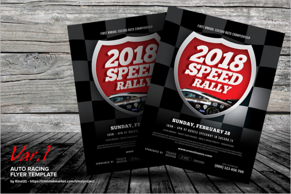 Racing Flyer Template 2018