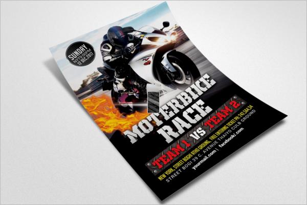 Racing Flyer Template PSD