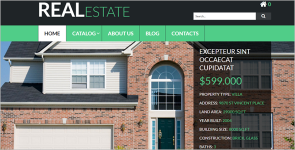 Real Estate VirtueMart Template