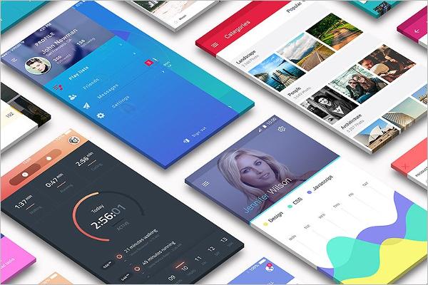 Realistic App Screen Mockup Design