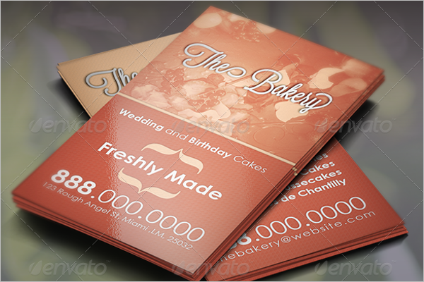 Realistic Bakery Business Card Design