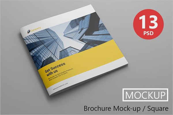 Realistic Brochure Mockup Design