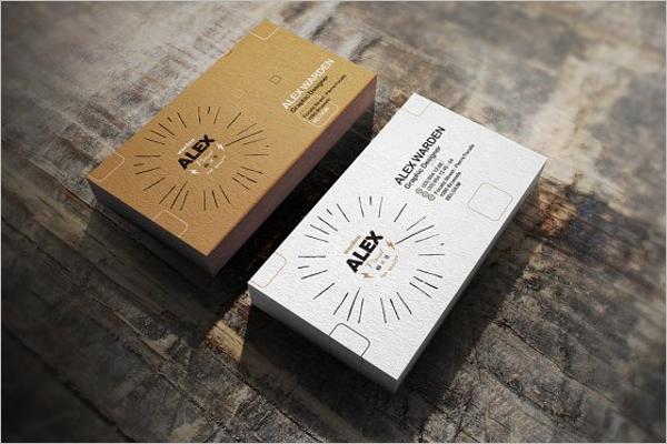 Realistic Business Card Mockup Design