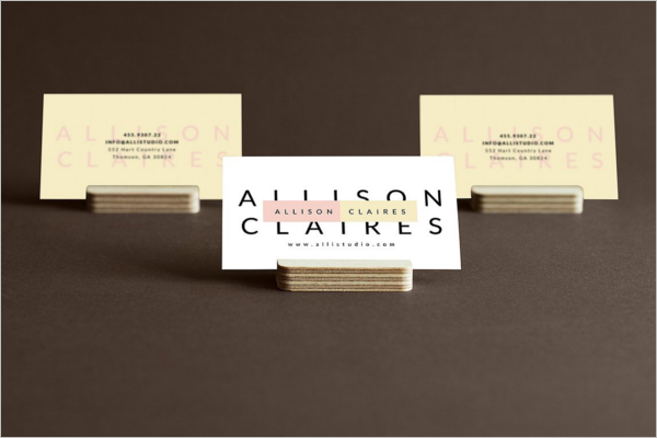 Realistic Business Card Template