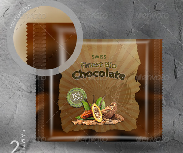 Realistic Choco Packaging Mockup