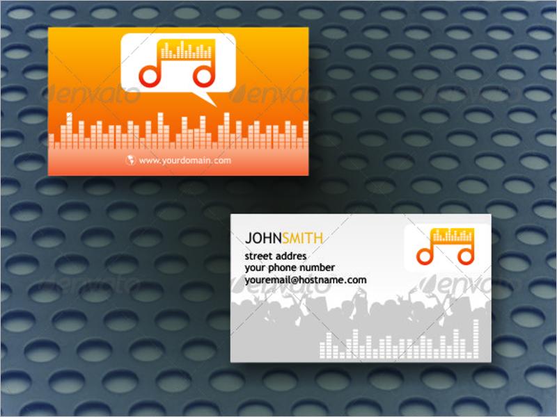 Realistic DJ Business Card Template