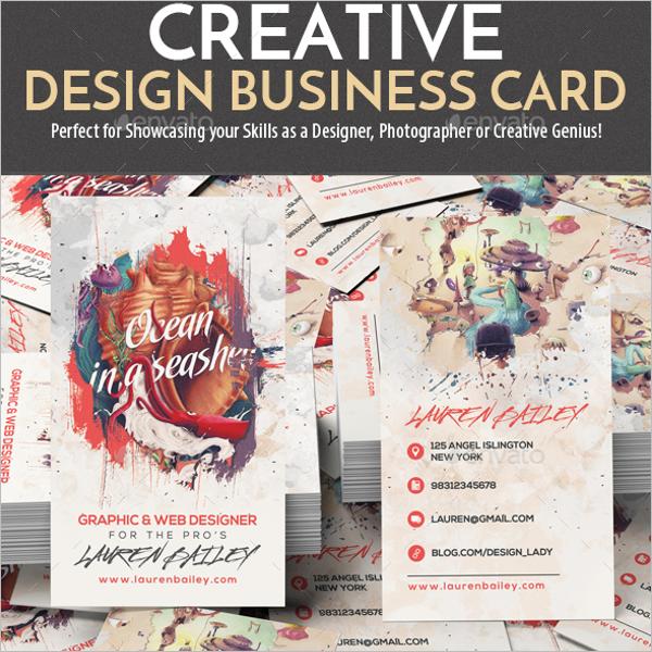 Realistic Designer Business Card Template