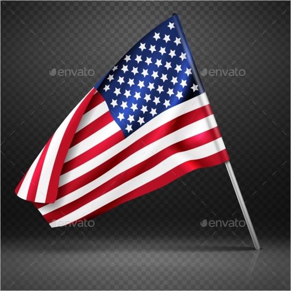 Realistic Flag Banner Design