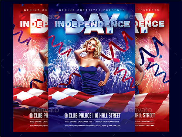 Realistic Flag Flyer Template