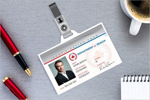 Realistic ID Card Template