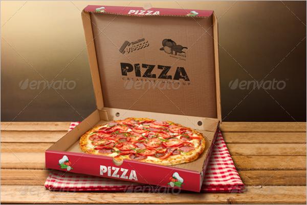 Realistic Open Pizza Box Mockup Design
