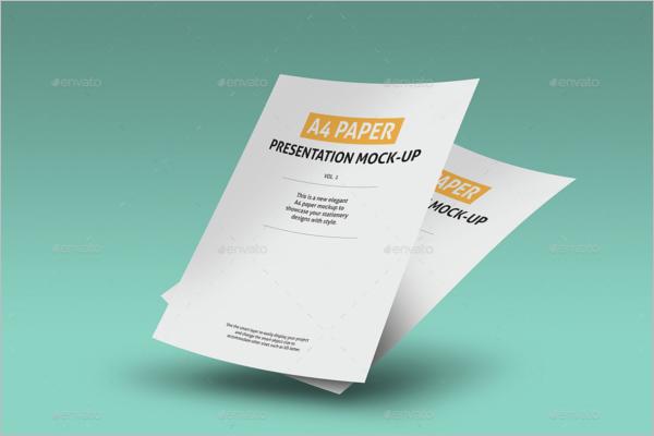Realistic Paper Mockup Design