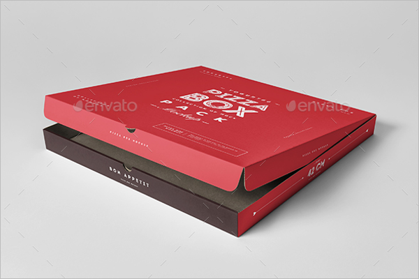 Realistic Pizza Box Mockup
