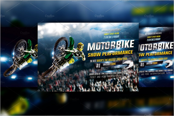 Realistic Racing Flyer Template