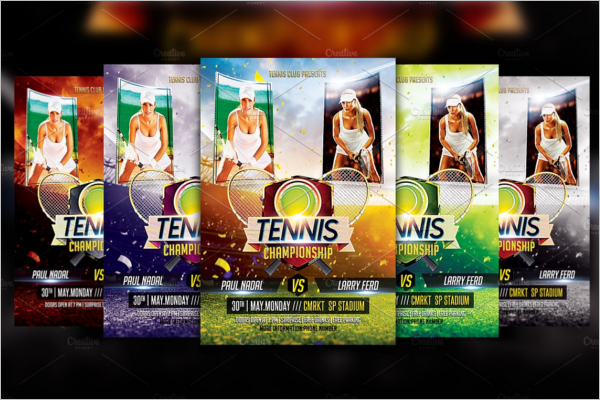 Realistic Sports Flyer Template