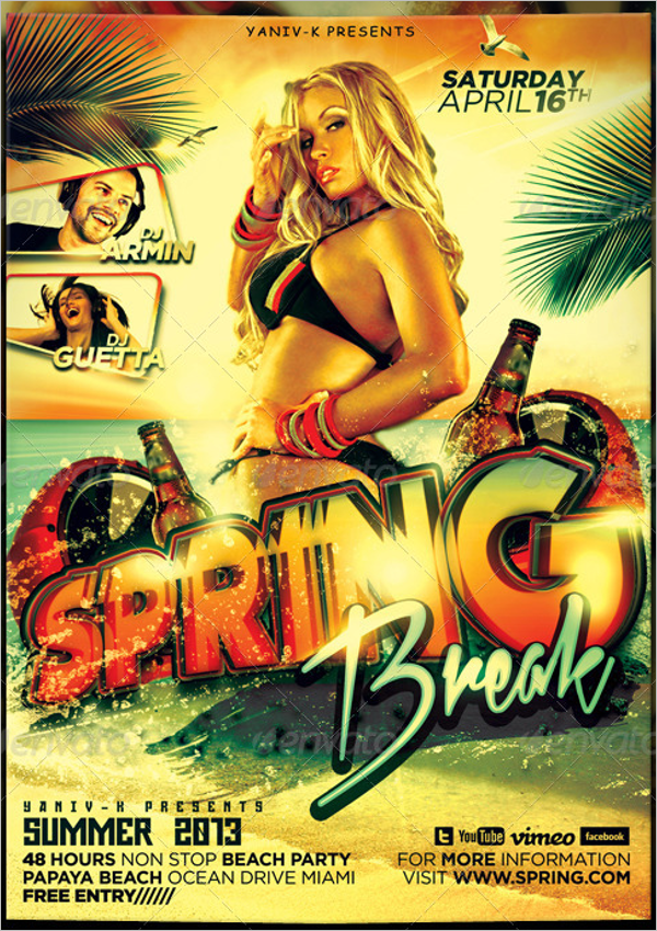 Realistic Spring Flyer Template