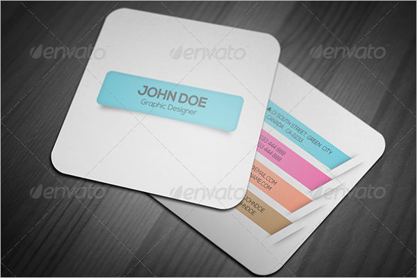 Realistic Square Business Card Design