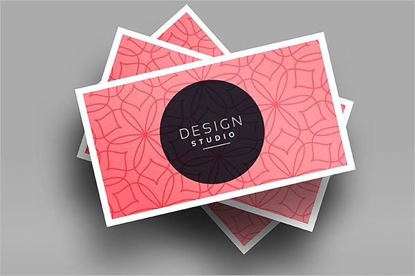 Realistic Visiting Card Mockup Design