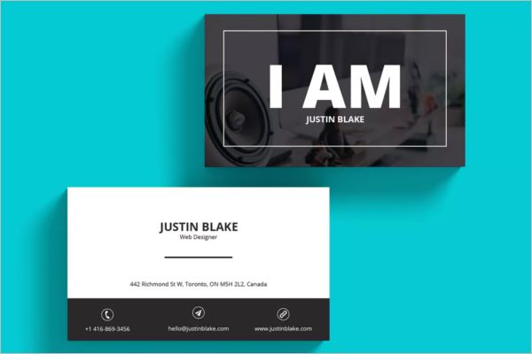 Realistic Web Developer Business Card Template
