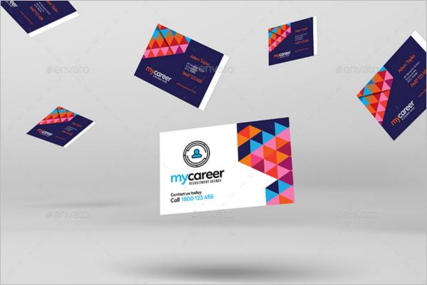 81 best business card templates free psd word vector for Design recruitment agencies