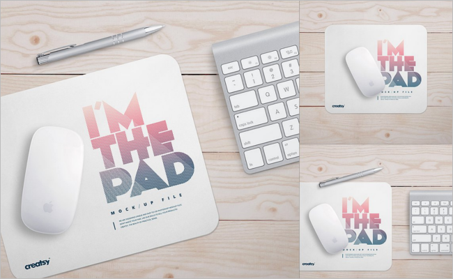 Rectangular Mouse Pad Mockup Design