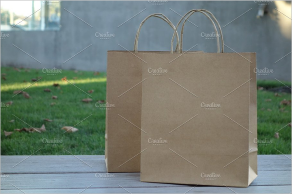 Recycling Paper Bag Design Mockup