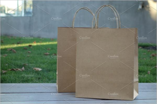 Recycling Paper Bag Design Mockup