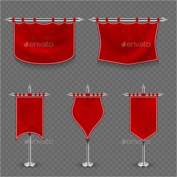 Red Flag Banner Design