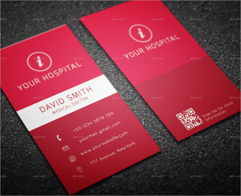 Red Hospital Business Card Design
